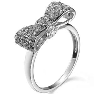 Jewelry - ✨New! .925 Sterling Silver Petite Bow Ring